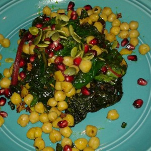 Sauteed Rainbow Chard with a Spicy Kick -